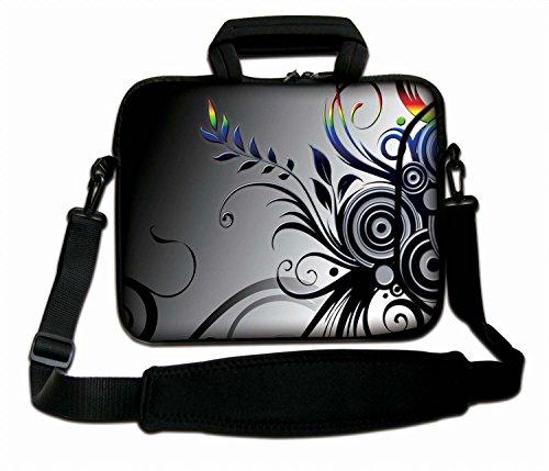 Luxburg® 17,3 Zoll Schultertasche Notebooktasche Laptoptasche Tasche mit Tragegurt aus Neopren für Laptop/Notebook Computer