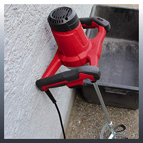 Einhell Paint and Mortar Mixer TC-MX 1400-2 E (1400 W, 0-780 1/min, M14 Stirring Tool Mount, Speed Electronics, alu…