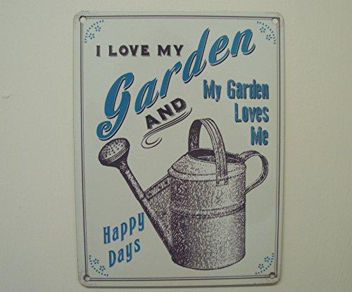 The Original Metal Signs I Love My Garden Plaque en métal Petit