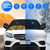 Keystand Windshield Cover Extra Large 600D & 3-Layer Thicker Fits Any Car Truck SUV Van Jeep, Car Snow Cover with Side Mirror Covers & Straps Double Protected Outdoor Windproof Waterproof Design