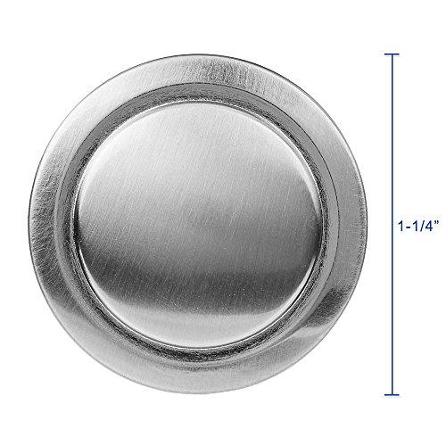 Lizavo Brushed Satin Nickel Kitchen Cabinet Knobs Modern Round Pulls Hardware for Drawer Dresser 1-1//4 inch Diameter 25 Pack