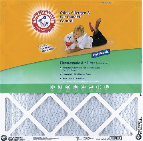 16x25x1 Arm and Hammer Air Filter (4 Pack)
