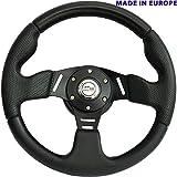 [DTi M10 HL] Dorado Tuning Sportlenkrad/Lenkrad Ø 320mm Rallye/Drift/Rannen/Universal/Schwarz/Special Perforiertem Griffbereich