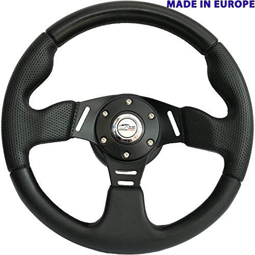 [RDi M10-HL] DoradoTuning Volante Deportivo Ø 320 mm Rally/Deriva/Carrera/Universal/Negro
