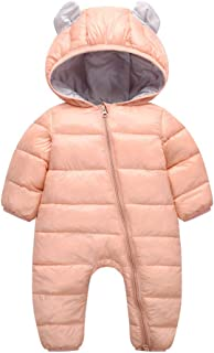 MAOMAHREWW Kids Unisex Baby Puffer Winter Outwear Hooded Romper Onsie Snowsuit