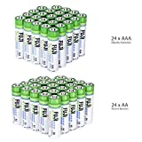 Fuji EnviroMAX Super Alkaline AA + AAA Set - Eco Friendly Batteries (Pack of 48 (24AA + 24AAA))
