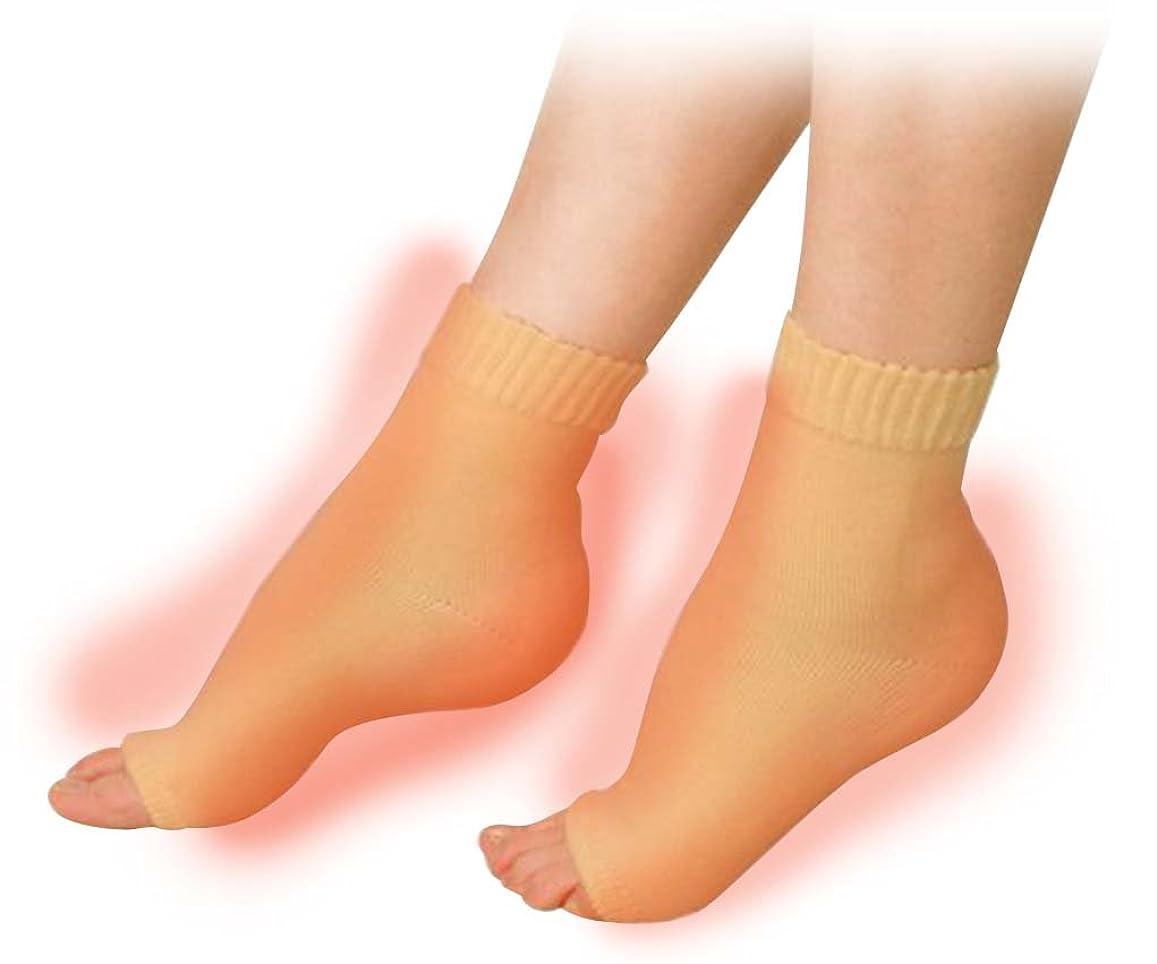 パーティション利用可能酸化する素足美女 発熱かかとナイトエステ かかと足裏2ヶ所タイプ
