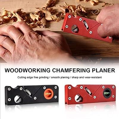 Woodworking Edge Corner Plane, Woodworking Chamfering Planer Tools, Mini Handhold Woodcraft Edge Corner Shaping Carpenter Tool, 45° Bevel Manual Planer Chamfering and Trimming