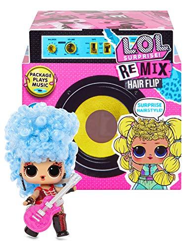 Remix LOL Surprise Hair Flip Puppen, 15 Überraschungen