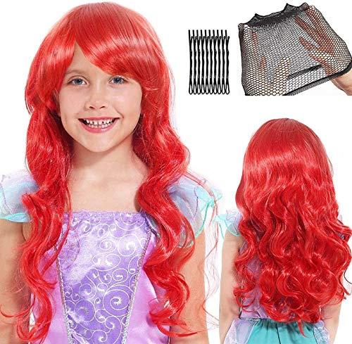Sirena Parrucca Donna Bambina Parrucca Cosplay...