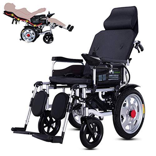 YLKCU Rollstuhl Elektrorollstuhl Klappbare motorisierte Elektrorollstühle, verstellbare Rückenlehne und Pedal, 20-Ah-Lithiumbatterie inklusive, elektrischer Doppelmotor-Rollstuhl