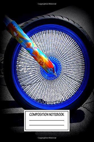 Composition Notebook: Abstract A Close Up Of A Custom Motorcycle Hippie Bike Wide Ruled Note Book, Diary, Planner, Journal for Writing