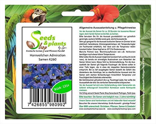 Stk - 135x Hornveilchen Admiration Blumensamen Samen Saatgut Sämereien K260 - Seeds Plants Shop Samenbank Pfullingen Patrik Ipsa