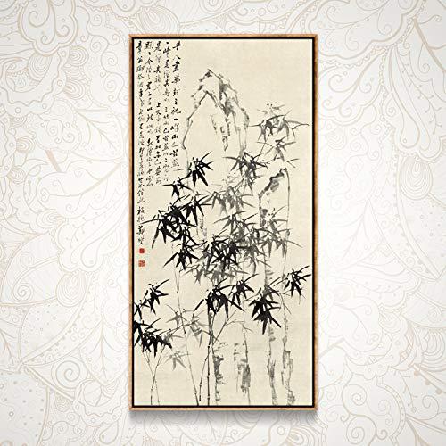 Sin Marco Inyección de Tinta Tinta de bambú Pintura Moderna Pintura al...