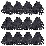 toskatok guanti elastici neri stretch per guidare, fai da te, giardinaggio, sport. acquista coppia singola, 6 o 12 coppie