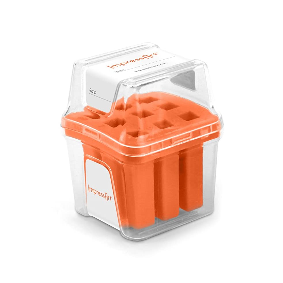 ImpressArt Number Stamp Storage Case, Orange, 4mm