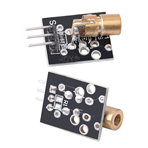 6 Pcs KY-008 Laser Dot Diode Copper Head Sensor Module