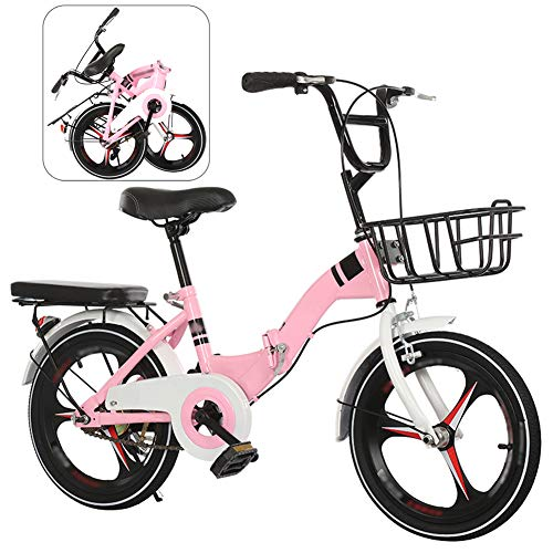 YRYBZ Bicicleta de Montaña Plegable, 16 Pulgadas Bicicleta Juvenil, Bicicleta Infantil, Bici...