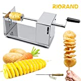 Best Spiral Slicers - RioRand Manual Stainless Steel Twisted Potato Slicer Spiral Review