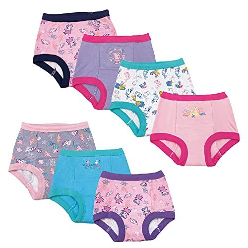 Peppa Pig Baby Toddler Girls' Potty Training Pants Multipack, PeppaGTraining7pk, 3T
