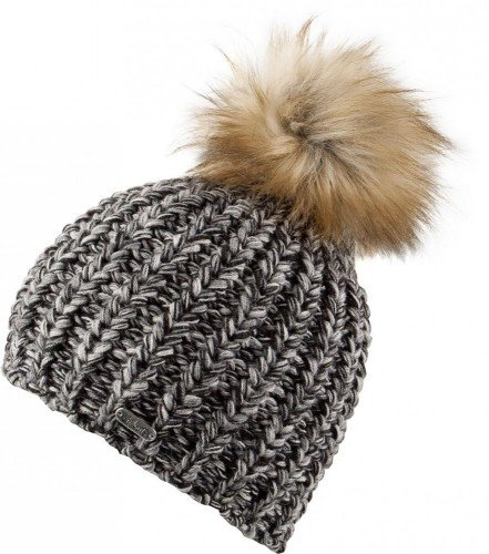 Chillouts Curly Hat Black/Grey -One Size