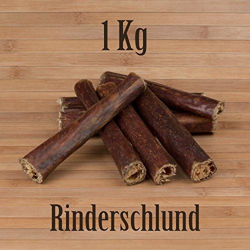 Kauzeit 1 Kg Rinderschlund Dörrfleisch Rinderdörrfleisch - wie Ochsenziemer Rinderohren