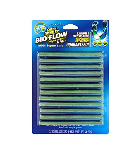 Green Gobbler SYNCHKG121210 BIO-Flow Strips-12 (Drain Cleaner & Deodorizer), 12 Pac