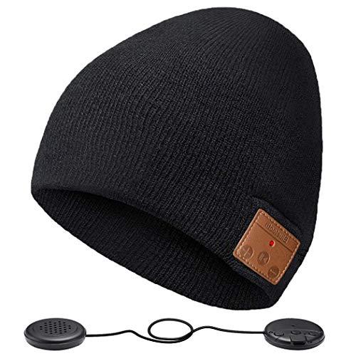 ZRUHIG Bluetooth Mütze mit Kopfhörern Bluetooth Musik Hut Wireless Mütze Ausgestattet mit Bluetooth 5.0 Superior für Herren&Frauen Sport, Weihnachten Geschenk, Geburtstags Geschenk