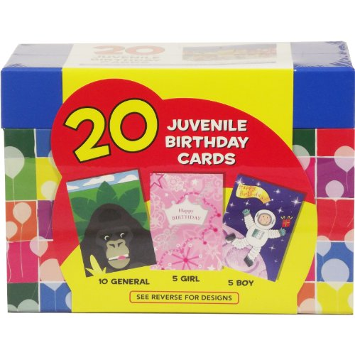 Paper Magic 20 ct Juvenille Geburtstagskarte (2330174-AOIY)