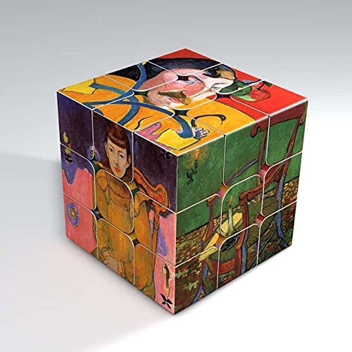 N\C Magic Speed Cube Descompresión Rompecabezas Cubo Impreso Cubo Dedo Juguete de Ejercicio