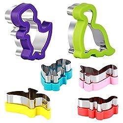 3. Magigift Dinosaur Cookie Cutters Set (6 pack)