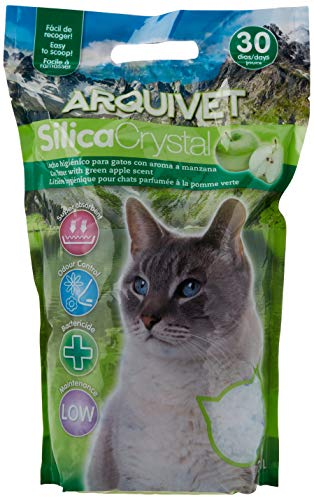 Arquivet arena gato Silica Crystal aroma manzana 3,8 L