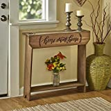 The Lakeside Collection Country Farmhouse Sentimental Message Console Table - Home Sweet Home