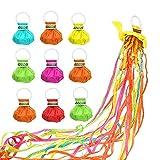 YeenGreen Serpentinas Fiesta, 10 Piezas Serpentinas de Colores, Favores Fiesta Lanzamiento de Mano...
