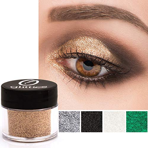 GLITTIES - Sparkling Champagne - Cosmetic Grade Extra Fine (.006') Loose Glitter Powder Safe for...