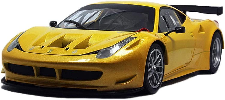 GAOQUN-giocattolo modellolo Auto 1 18 Ferrari 458 GT2 Lega Auto Sportiva modellolo Decorazione Regalo Collezione (Coloree   gituttio, Dimensione   27  11  7cm)