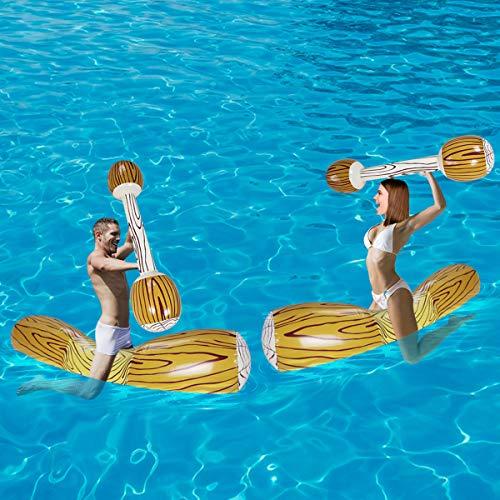 SUNSHINE-MALL Colchoneta hinchable para piscina (madera)