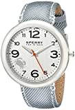 Sperry Top-Sider Women's 10008952 Sandbar Stainless Steel Watch with Striped Canvas Band