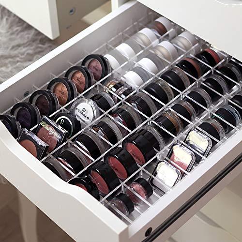 TidyUps DIVIDERS for EYESHADOWS   Trennstege-Set als Schubladeneinsatz für IKEA Alex 5   Kosmetik Organizer für Eyeshadows aus Acryl (52cm)