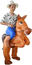HUAYUARTS Men's Inflatable Costume Boys Ride Horse Blow up Brown Halloween Christmas Cosplay Fancy Dress