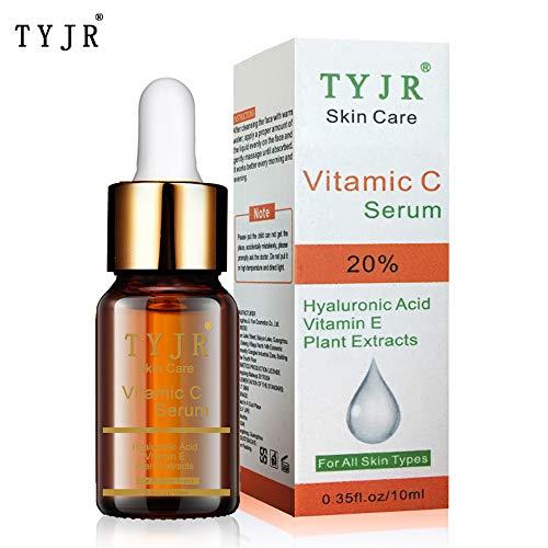 Fesjoy Vitamin C Serum Best Anti Aging Crema hidratante Serum para rostro Cuello Tratamiento para ojos Ojos Reduce arrugas Reparaciones Círculos oscuros