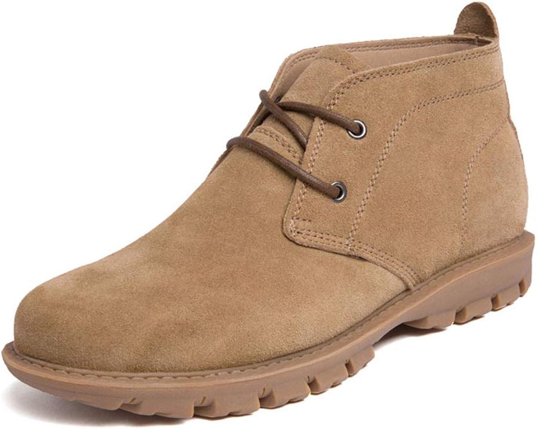 BABYS'q Men's Boots, Winter Warm shoes, Antiskid Flat Comfy Casual Sneaker,Brown,38
