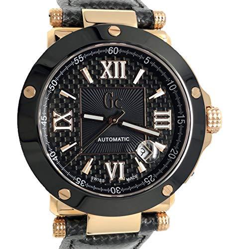 GC Herren-Armbanduhr Gc-1 Automatik 2824 Special Edition Collection Rosegold mit schwarzem Lederband A93001G2