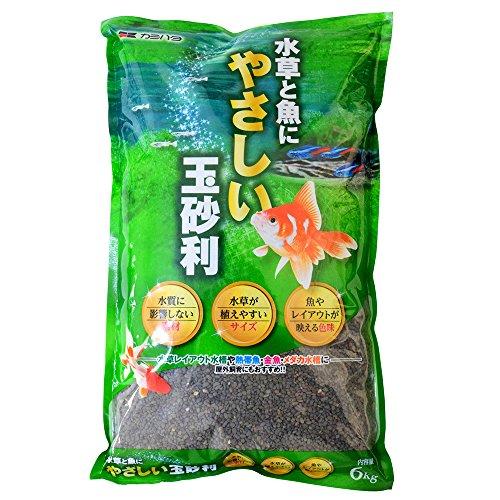 カミハタ 水草と魚にやさしい玉砂利 6kg