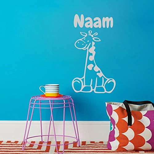 Giraffe Muursticker Persoonlijkheid Moderne Baby Kinderkamer Kleuterschool Vinyl Home Decoratie muurschildering Wallpaper 43x80cm Rood