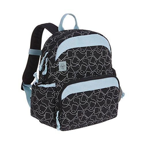LÄSSIG Kinderrucksack Spooky Medium mit Brustgurt Mädchen Junge Kindergartentasche Kindergartenrucksack / Medium Backpack Spooky black