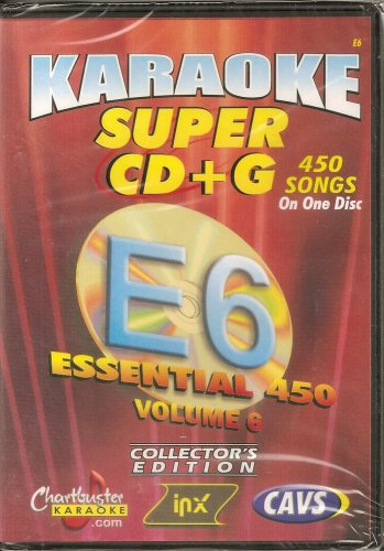 CHARTBUSTER SUPER CD+G Volume #6 - 450 CDG Karaoke Songs Playable on CAVS System or on your PC DVD player using Windows.