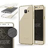 Urcover® TPU Ultra Slim 360 Grad Hülle kompatibel mit Samsung Galaxy A5 (2016) Handyhülle Schutzhülle Hülle Cover Etui Champagner Gold