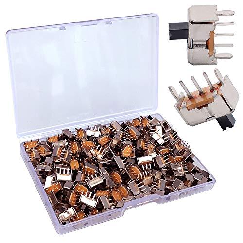 Gebildet 150Pcs 2 Posiciones SK-12D07 Interruptor Deslizante Vertical de Panel PCB de 5 Pin