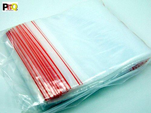POPESQ® - 100 Stk. x ZIP Druckverschluss Beutel 90mm x 200mm 45µ Polypropylen Transparent / 100 pcs. x ZIP ZIP Bag 90mm x 200mm 45µ Polypropylene Transparent #A2096